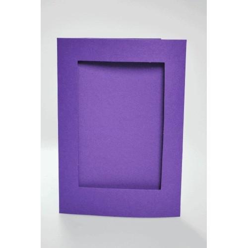 Duża kartka z prostokątnym psp fioletowa