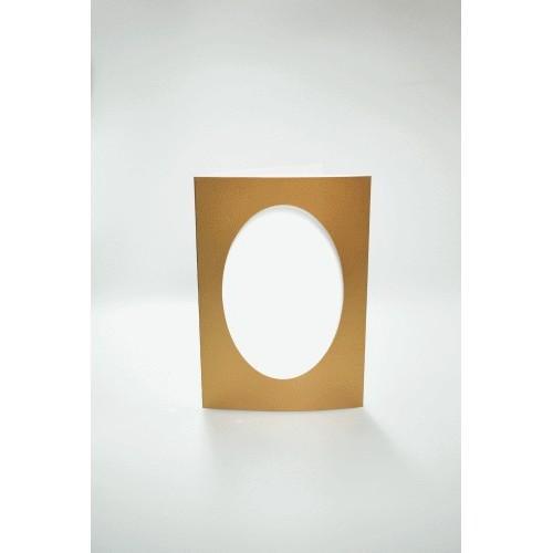 Kartki z owalnym psp złote