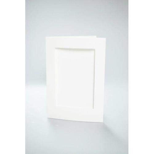 Kartki z prostokątnym psp białe