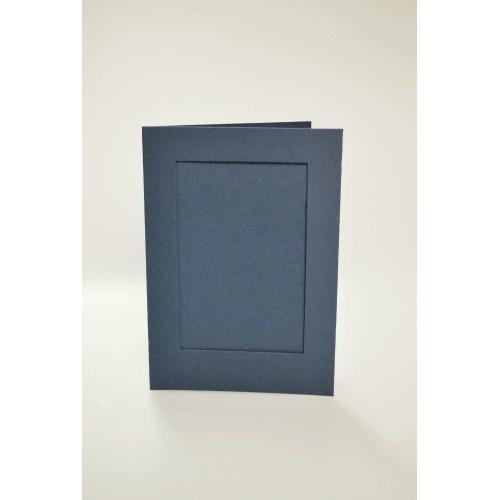 Kartki z prostokątnym psp granatowe