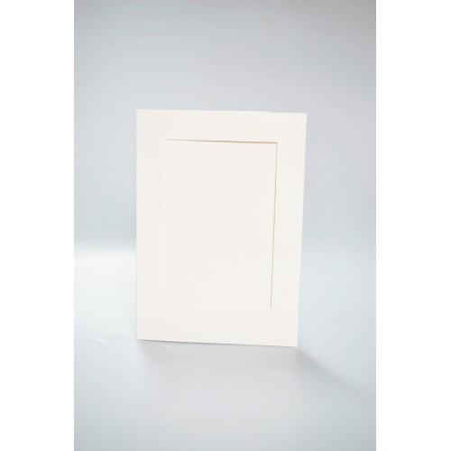 Kartki z prostokątnym psp kremowe