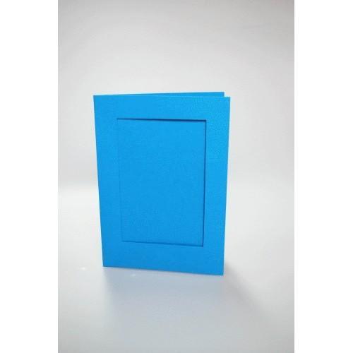 Karta z prostokątnym psp błękitna