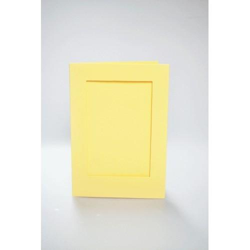Karta z prostokątnym psp żółta