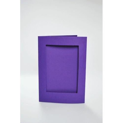 Kartki z prostokątnym psp fioletowe