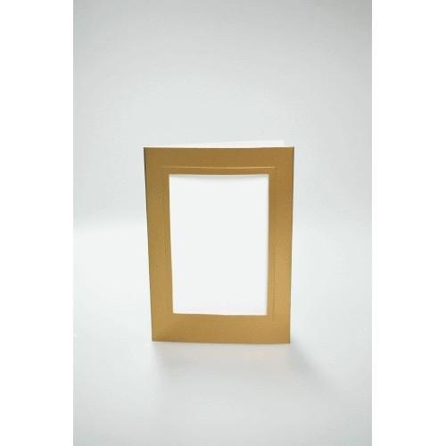 Kartki z prostokątnym psp złote