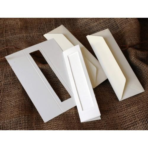 Zakładki z prostokątnym psp białe