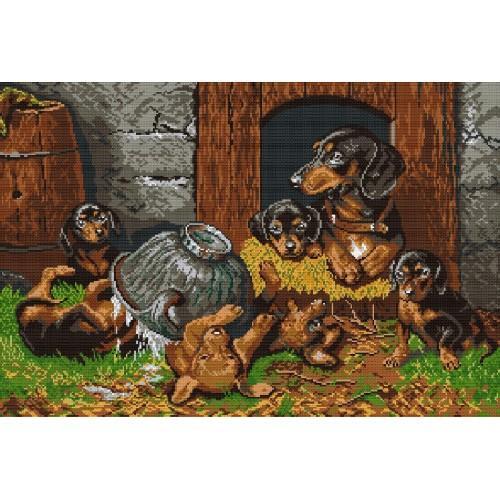 Wzór graficzny - Psie figle