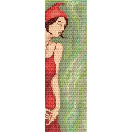 2143 Kanwa z nadrukiem - Czerwony kapturek - A. Śliwa-Klara
