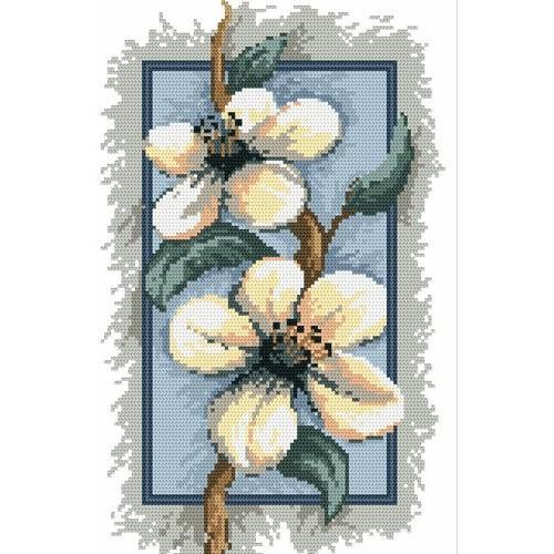 4541 Kanwa z nadrukiem - Kwiaty jabłoni