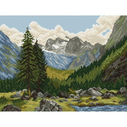 Kanwa z nadrukiem - Górska Dolina