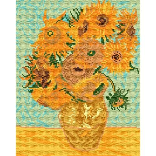 Aida z nadrukiem - V. van Gogh - Słoneczniki