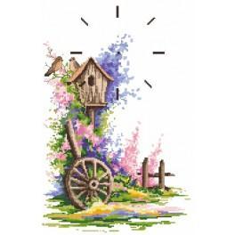 Aida z nadrukiem - Letni zegar