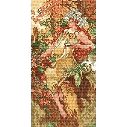 Aida z nadrukiem - Jesień - A. Mucha