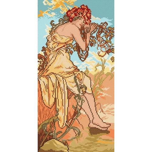 Aida z nadrukiem - Lato - A. Mucha