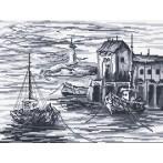 Aida z nadrukiem - Kutry rybackie