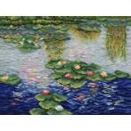 Aida z nadrukiem - Lilie wodne - Claude Monet