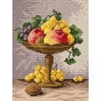 Aida z nadrukiem - Klosz z owocami