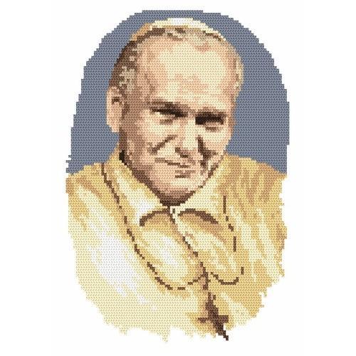 Aida z nadrukiem - Papież Jan Paweł II