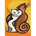 Aida z nadrukiem - Zakręcone koty