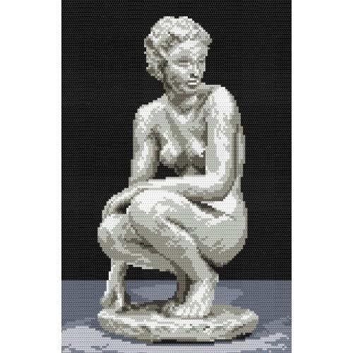 Aida z nadrukiem - Posąg kobiety