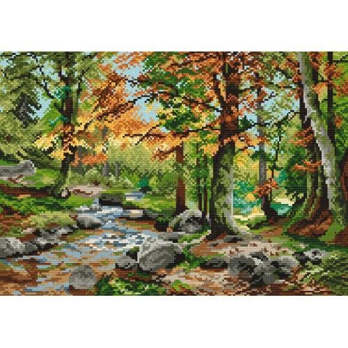 Aida z nadrukiem - Jesienny las