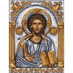Aida z nadrukiem - Ikona - Chrystus Pantokrator