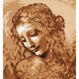 Aida z nadrukiem - Głowa kobiety - L. da Vinci