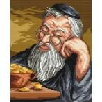 Aida z nadrukiem - Żyd liczący pieniądze