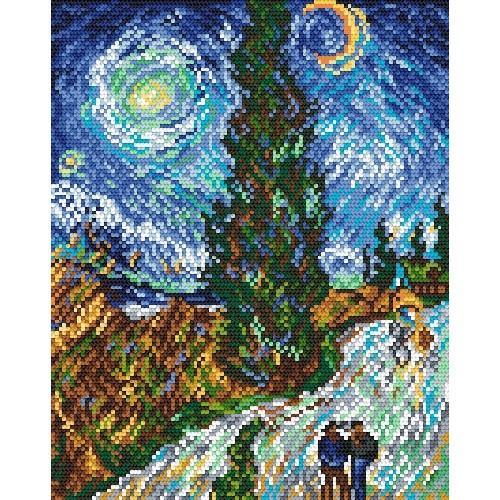 Aida z nadrukiem - V. van Gogh - Droga z cyprysem i gwiazdą