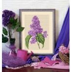 Aida z nadrukiem - Kwiat bzu