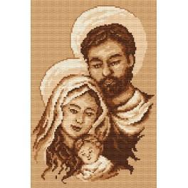 AN 4419 Aida z nadrukiem - Święta rodzina