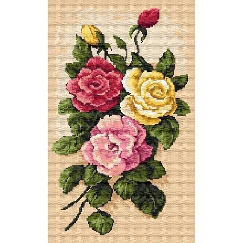 Aida z nadrukiem - B.Sikora-Malyjurek - Malownicze róże