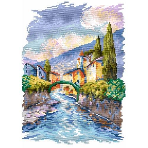 Aida z nadrukiem - Most Vittorio