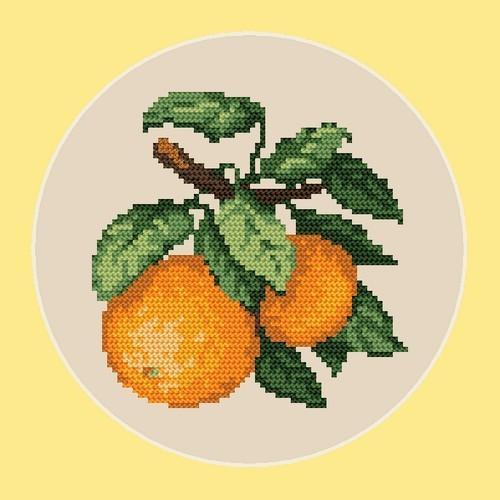 Aida z nadrukiem - Słodkie pomarańcze