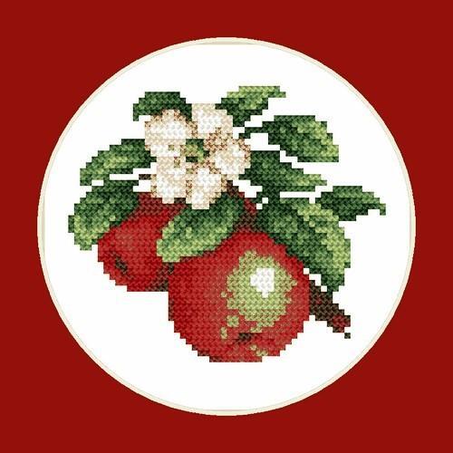 Aida z nadrukiem - Soczyste jabłka