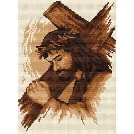 Aida z nadrukiem - Jezus z krzyżem