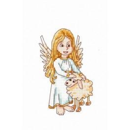 Aida z nadrukiem - Anioł stróż