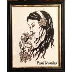 Aida z nadrukiem - Dziewczyna z liliami