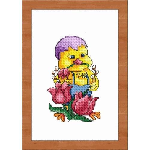 Aida z nadrukiem - Wielkanocny kurczaczek
