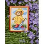 Aida z nadrukiem - Letni deszczyk
