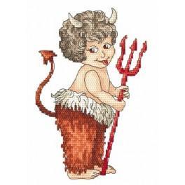Aida z nadrukiem - Diabełek