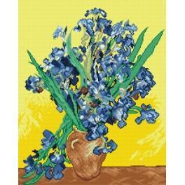 Aida z nadrukiem - Irysy - V. van Gogh