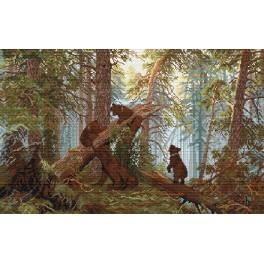 Aida z nadrukiem - Poranek w lesie - I. Szyszkin