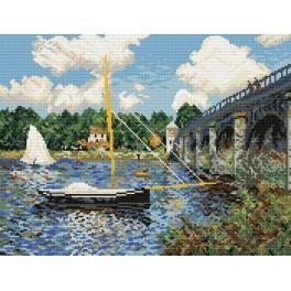 Aida z nadrukiem - Most drogowy w Argenteuil - Claude Monet
