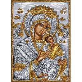 AN 8001 Aida z nadrukiem - Ikona - Matka Boska z dzieciątkiem
