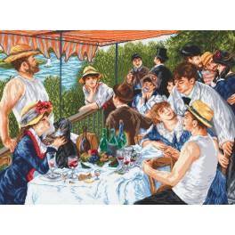 Aida z nadrukiem - śniadanie wioślarzy - A. Renoir