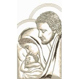 AN 8052 Aida z nadrukiem - Józef, Maryja i dzieciątko