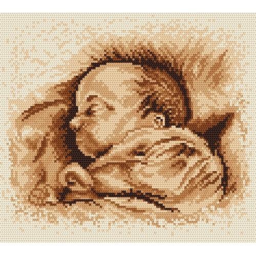 Aida z nadrukiem - śpiące dziecko
