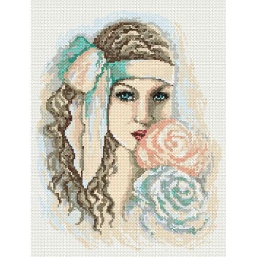Aida z nadrukiem - Rozmarzona dziewczyna