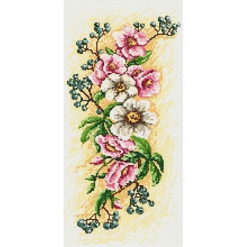 Aida z nadrukiem - Kompozycja z kwiatów